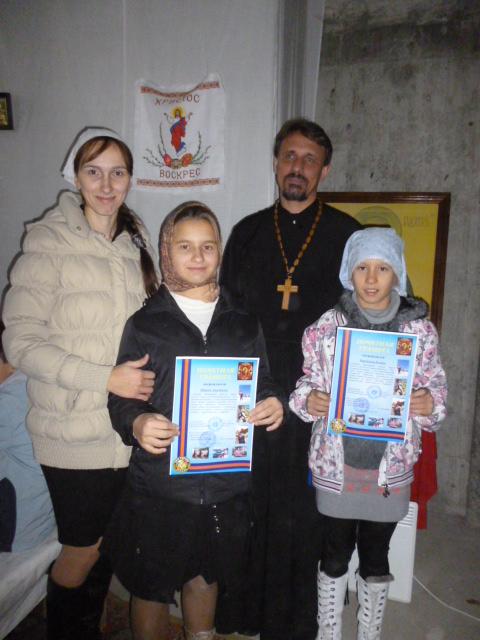 Настя и Ксюша - победители творческого конкурса